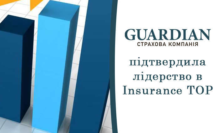 СК «ГАРДІАН» підтвердила лідерство в Insurance TOP